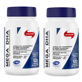 Mega Dha 1500mg Dha + 300mg Epa - 2x 120 Cápsulas - Vitafor
