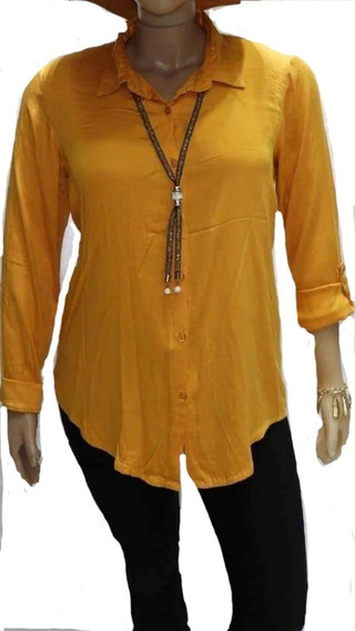 Camisas Fibrana Elastizada Mangs Largas T 4 Al T 10