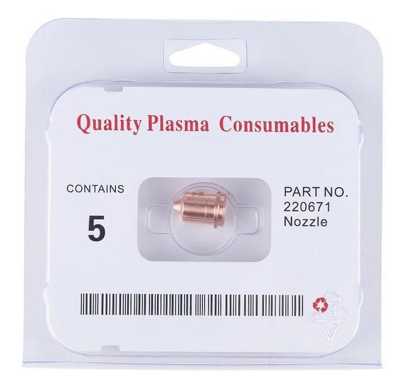 5pcs Cortador De Plasma Antorcha De Corte Consumibles Boquil