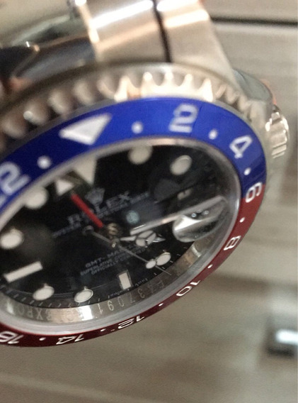Relógio Modelo Gmt 2, Relógio Pepsi, Red Blue Máquina Eta