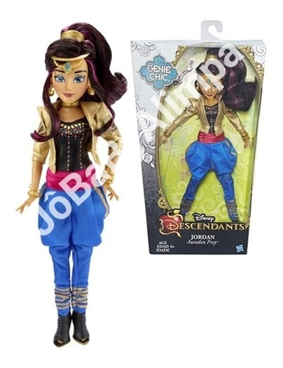 Boneca Descendentes Auradon Genie Jordan C/ Suporte Hasbro
