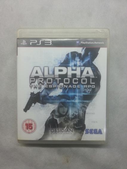 Jogo Ps3 Midia Fisica Usado Original Alpha Protocol