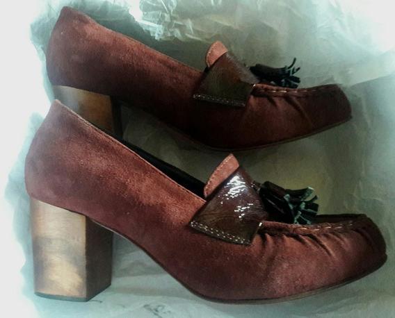 Mishka Zapato#40 Cuero/sarkany/viamo/prune