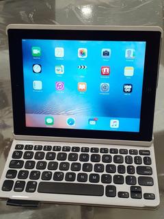 iPad 3 64gb Con Funda Y Teclado Bluetooth Logitech Impecable