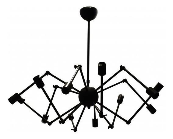 Pendente Aranha Lustre Retrô Aranha Sputinik 12 Braços