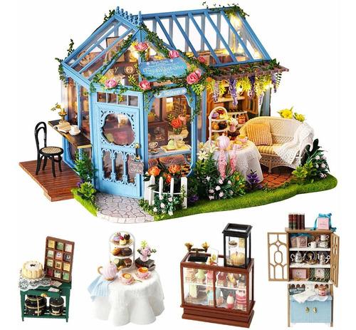 Spilay Dollhouse Miniature With Furniture,diy Dollhouse K