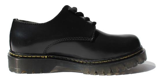 Zapato Tipo Dr. Martens ( Negro Brilloso )