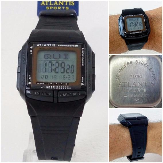 Relógio Masculino Digital Atlantis Original 30 Memorias