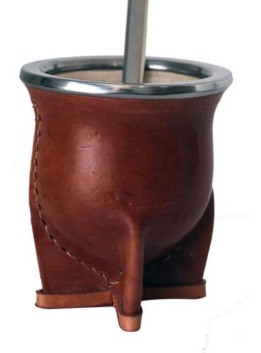 Cuia Lisa Tradicional Uruguaia Porongo + Bomba Inox