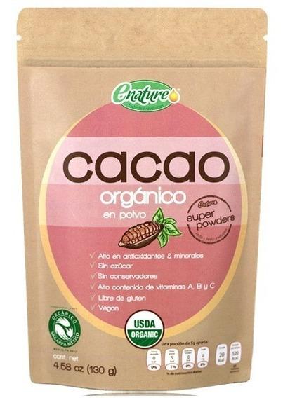 Enature Cacao Organico En Polvo 130g Se