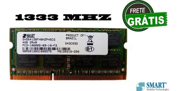 Memória 4gb Ddr3 Smart Notebook Pc3 10600s 2rx8 Frete Gratis