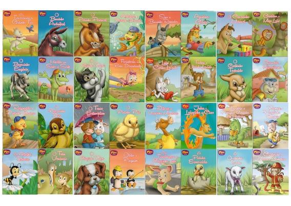 Coleção Livro Infantil - 34 Livros 13 X 10 Cm - 12 Páginas