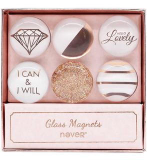 Imanes De Cristal Decorativos (6 Piezas) Never.