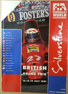 Autógrafo Ayrton Senna - Programa Oficial Silverstone 1991