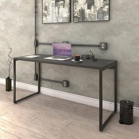 Mesa Escrivaninha Escritório Trevalla Kuadra 150cm Preta