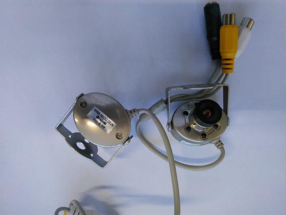 6 Mini Câmera De Segurança 1/4 Cctv + 4 Receptor