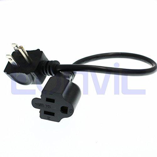 Imagen 1 de 5 de Eonvic Short Flat Plug Cable De Alimentacion, Ul Cable De Al
