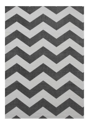 Tapete Diseño Nordico Azul Blanco 1.20x1.60 100% Algodon