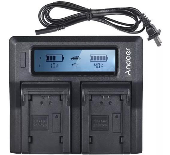 Carregador Duplo Digital Lcd Para Bateria Np-fz100