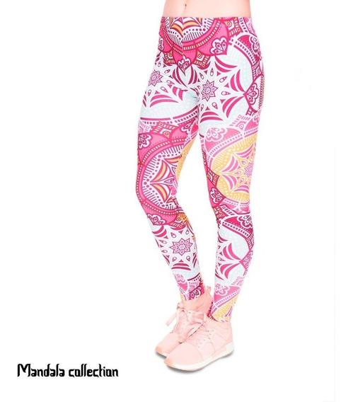 Leggings Mandala Yoga Rosas
