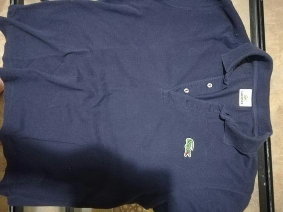 Polo Lacoste Talla 5 Eq M Azul Marino Totalmente Original