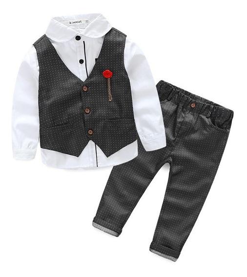 Conjunto Traje Niño Fiesta Elegante Pantalon Camisa Chaleco