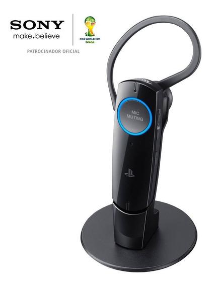Fone De Ouvido Sony Sem Fio Com Bluetooth Para Ps3 - Preto