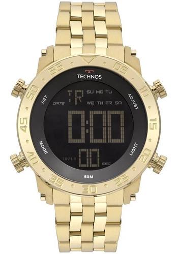 Relógio Technos Masculino Performance Dourado Original Nf