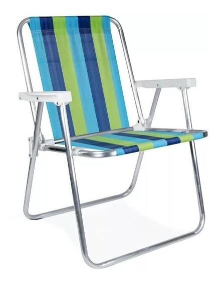 Cadeira Aluminio Mor Modelo 2101 Dobravel - Ler Descrição