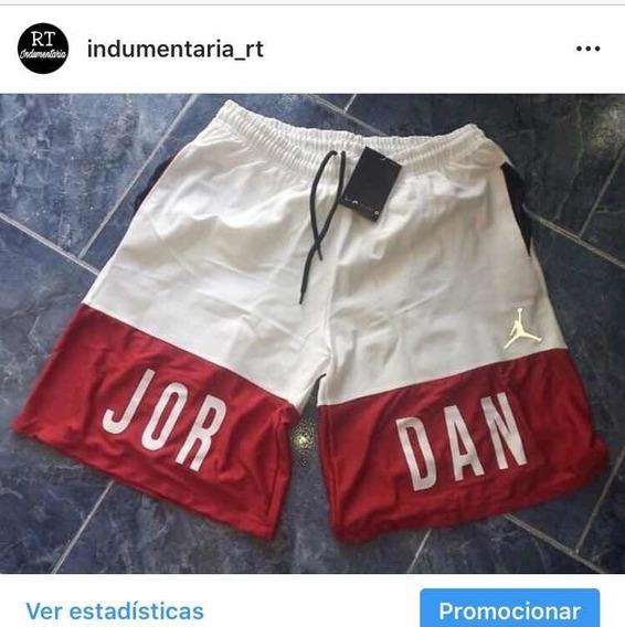 Short Blanco Y Rojo