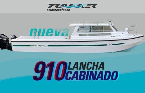 Imagen 1 de 8 de Lancha Tracker Trakker 910 Cabinado Nueva