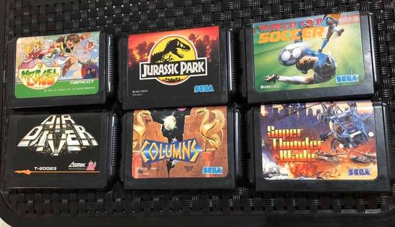 Lote Jogos Mega Drive Japonês Original