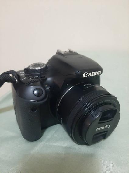Canon T3i + Lente 50mm + Flash