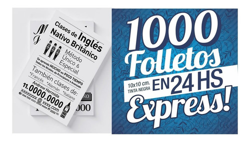 1000 Folletos Express En 24 Hs.a 1 Color * Villa Urquiza !