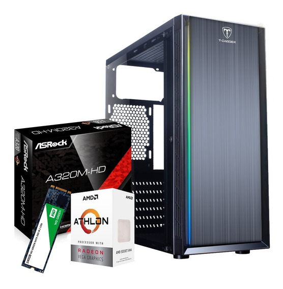 Pc Gamer Amd Athlon 3000g 8gb Ssd 240gb Placa De Vídeo Vega3