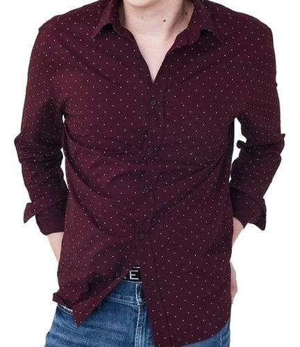 S, L- Camisa Aeropostale Vino C2ap Ropa Hombre 100% Original