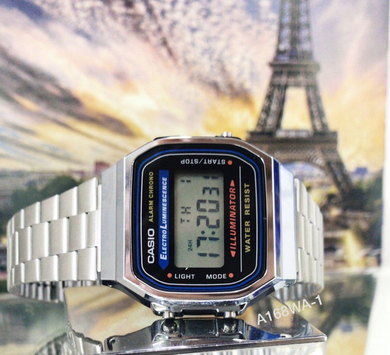 Casio Prata A168wa-1 Original