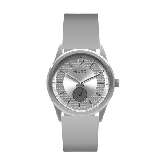 Relógio Feminino Euro Eu1l45aa/8k 40mm Silicone Cinza