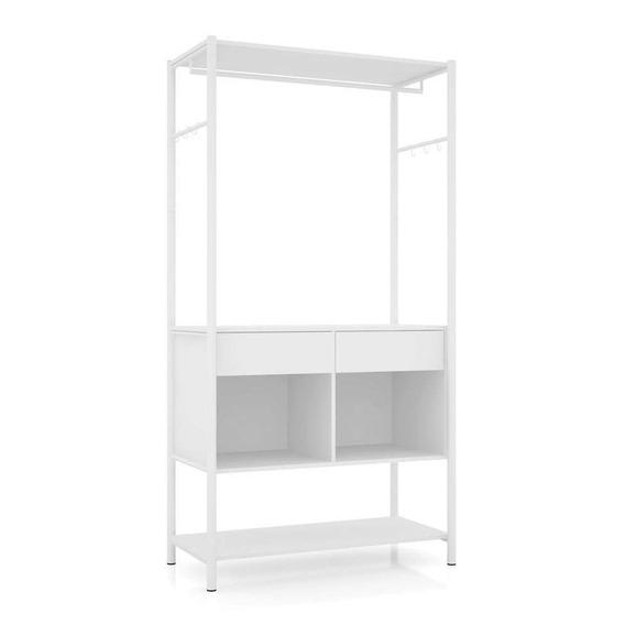 Guarda-roupa Closet Modulado Paris Branco