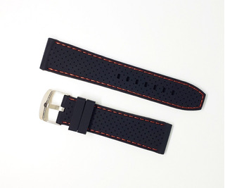 Malla De Silicona Para Reloj 22mm C/perno (alta Resistencia)