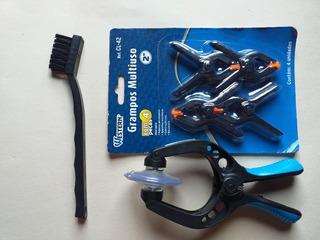 Kit,escova Antiestatica+alicate Ventosa+grampo Fixador Lcd