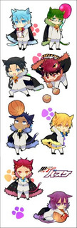 Plancha De Stickers De Anime De Kuroko No Basket Anime 2