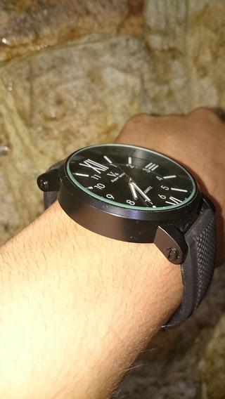 Relógio Masculino Preto Pulseira Borracha