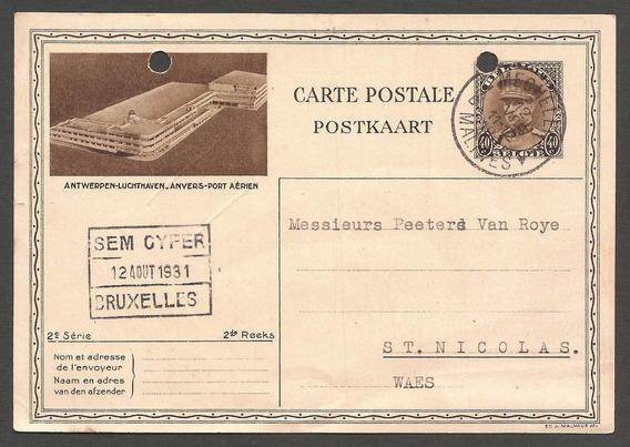 Belgica 1931 Postal De Bruxelles A Waes Holanda - 060
