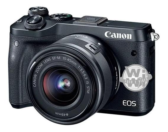 Kit Canon Eos M6 Com Ef-m 15-45mm F/3.5-6.3 Is Stm (usado)