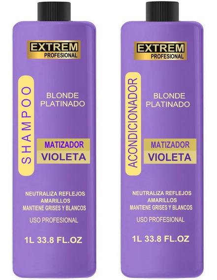 1 Litro Shampoo Matizador + 1 Litro Acondicionador Violeta