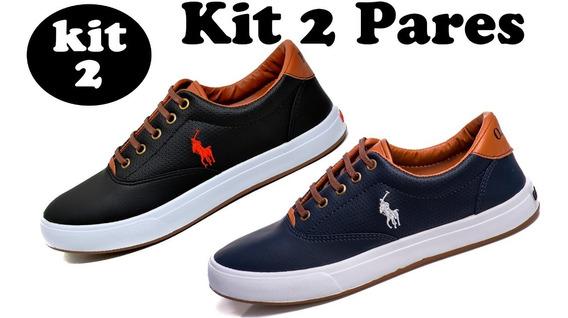 Combo 2 Pares - Tenis Masculino Sapato Sapatenis Polo Wey
