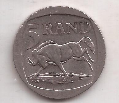 Sudafrica Moneda De 5 Rand Año 1994
