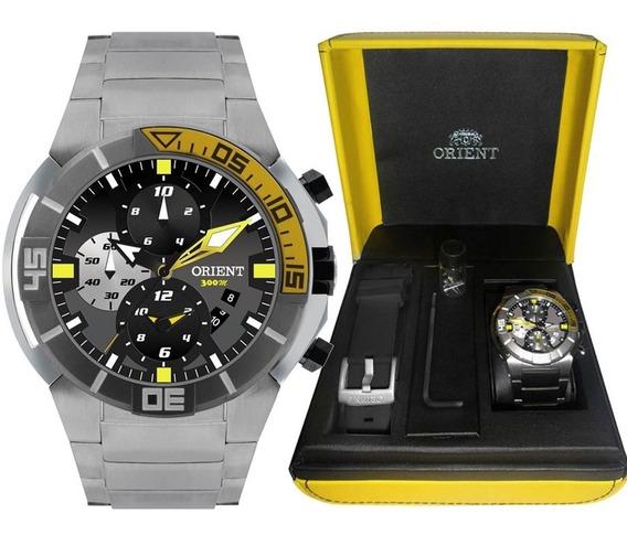 Relógio Orient Titânio Seatech Duas Pulseiras Mbttc003