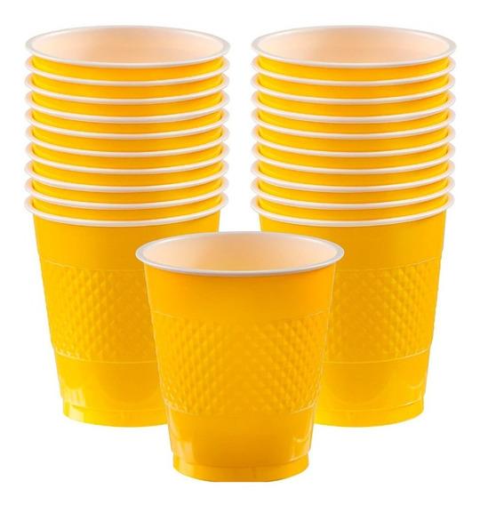 Vasos Desechables De Colores Plástico 12oz Paq C/20 Amscan